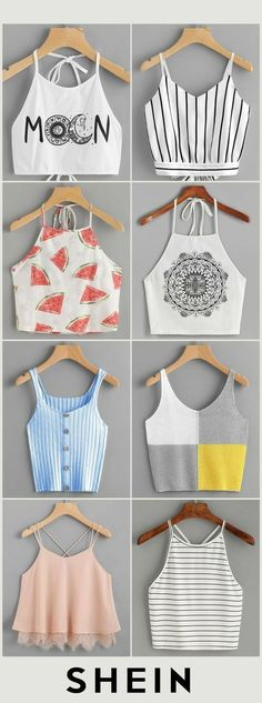 Crop tops ideas para Crop top outfits Summer Outfits Travel Outfits 2019 Spring O … - Teenage Outfits, Teen Fashion Outfits, Mode Outfits, Outfits For Teens, Girl Outfits, Travel Outfits, Fashion Fashion, Fashion Dresses, Preteen Fashion