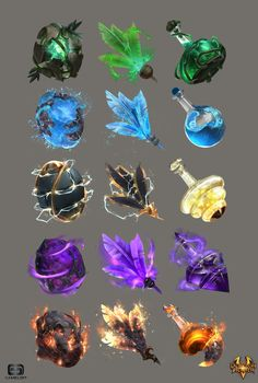 ArtStation - Crafting Ingredients - Dungeon Hunter 5, Markus Lenz
