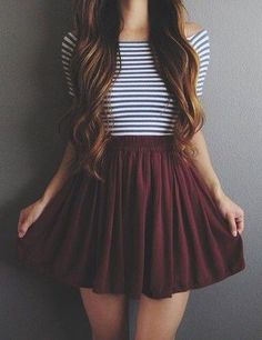 Take a look at 9 back to school outfits for teens with a striped top in the photos below and get ideas for your own outfits! teen fashion outfit ideas for school with jeans, yeezy sneakers, striped crop top, cardigan… Continue Reading → Mode Outfits, Fashion Outfits, School Outfits, Cute College Outfits, Outfits 2016, Skirt Fashion, Mode Vintage, Mode Inspiration, Mode Style