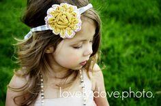 Sunburst Flower Headband