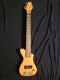 Guitar Blog: MXB Travel Guitar by Michaud in awesome orange