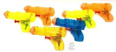 Water Squirt Gun Set 6pc Squirters Outdoor Refillable Fun Toy For Ages 3  New #PlayZone