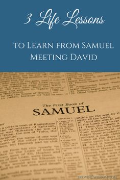 We found it surprising how relevant it was to read the account in 1 Samuel when the prophet Samuel met the soon-to-be King David. Samuel thought the Lord would choose based on what he saw. How do appearances affect your choices? Read More Here: