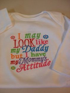 Funny Baby Girls Onesie Girl 03 months to 24 by theladybug50049, $12.00 | Look around!