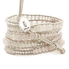 Chan Luu - Doeskin Graduated Wrap Bracelet with Silver Nuggets on Petal Leather, $230.00 (http://www.chanluu.com/wrap-bracelets/doeskin-graduated-wrap-bracelet-with-silver-nuggets-on-petal-leather/)