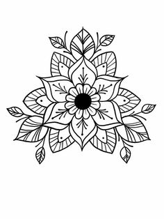 Most up-to-date Images Embroidery Patterns mandala Strategies Embroidery patterns mandala doodles 37 ideas Mandala Doodle, Mandala Tattoo Design, Dotwork Tattoo Mandala, Mandala Coloring, Colouring Pages, Handpoked Tattoo, Mandalas Drawing, Flower Mandala, Henna Designs