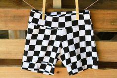 Black Check Knit Baby Shorts Girl Boy Infant Toddler NB 3m 6m 12m 18m 2T 3T 4T 5T