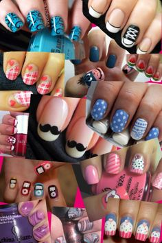 Nail collage