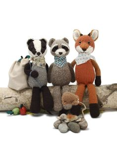 A new set of animals in my popular Scraps Chaps style, this pattern includes instructions for a Badger, a Fox, and a Raccoon. There is also a bonus