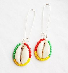 IRIE Silver Beaded Cowrie Shell Earrings by ZuriEarthlyDesigns