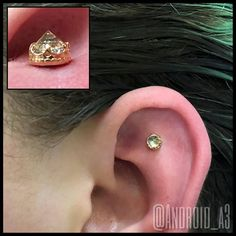 Good Morning! ☀️  #18k #rosegold and reverse settings are some of my favorites! #Jewelry from #anatometal. Have a great day!  #app #appmember #proudmember #associationofprofessionalpiercers #safepiercing #safepiercings #FlintMI #FlintMichigan #Flint810...