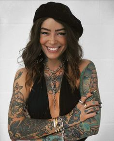 Hot Tattoos, Girl Tattoos, Sleeve Tattoos, Tattoos For Women, Tattooed Women, Hot Tattoo Girls, Tattoed Girls, Inked Girls, Style Boho