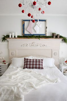 Cottage Christmas Master Bedroom-27