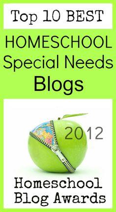 Top Homeschool Special Needs Blogs 2012 @hsbapost