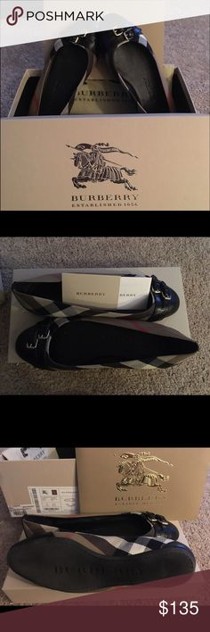 SOLD Authentic Burberry Bridle Avonwick Flat 37.5 100% authentic like new Burberry Black Leather Nova Check Canvas Avonwick Flats size 37.5  Worn less than a handful of times flats are like new! Beautiful condition no scuffs, marks, discoloration on fabric or leather. Bottoms have little to no wear. Please see photos.   Comes with original box and care card.   These exact flats retail at Nordstrom and Saks for $375!   Super cute wardrobe staple!    Make me an offer!! 😀 Burberry Shoes Flats…