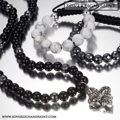 What's black, white & hematite all over? #mesnfashion #jewelry #style #luxury
