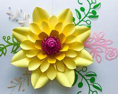 PDF Petal #10 Paper Flower Template with Base, DIGITAL Version - The Dagger - Original Design by Annie Rose