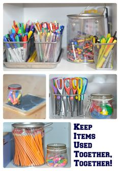 How to organize all those art supplies - [I got some ideas to organize my abundance of pens, pencils, office/desk supplies & accessories.]