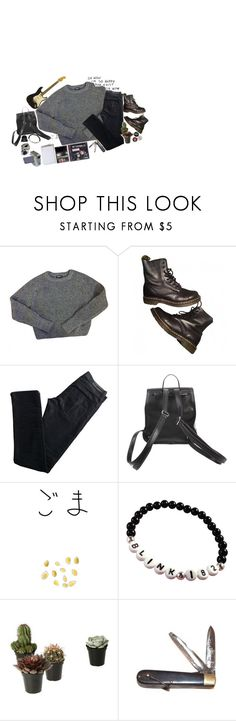 """""""// Things are shaping up to be pretty odd //"""" by panic1atthefroot ❤ liked on Polyvore featuring American Apparel, Dr. Martens, Karl Lagerfeld, Giro and Retrò"""