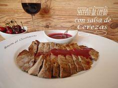 Receta Secreto de cerdo con salsa de cerezas, para Sacaelcucharon - Petitchef