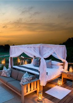 Lion Sands Tinga Lodge offers you luxury safari lodge accommodation in the Sabi Sands Game Reserve near Kruger National Park. Lodge Bedroom, Bedroom Sets, Bedrooms, Game Reserve South Africa, African Holidays, Paradise Places, Sand Game, Game Lodge, Lodge Decor