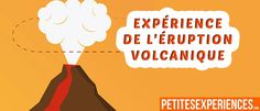 Expérience amusante éruption volcanique