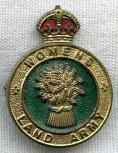 WWII British Women's Land Army Cap Badge