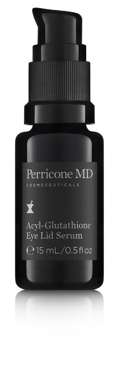 Perricone MD Acyl-Glutathione Eye Lid Serum - A treatment that helps firm loose skin along the eye lid while smoothing creases, improving firmness and correcting dark circles around the eye. 0.5 fl oz, $115
