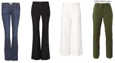 Inverted triangle shape spring pants cropped bootcut | 40plusstyle.com