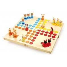 These traditional family games of Snakes and Ladders and Ludo iare made by Galt toys and are fun for the whole family to play. Wooden Puzzles, Wooden Toys, Ludo, Parlor Games, Animal Articles, Travel Box, Wooden Animals, Animal Games, Like Animals