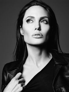 Angelina Jolie photographed by Hedi Slimane for Elle Russia, June 2014