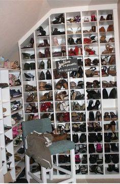 under basement stairs shoe storage