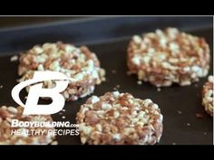 ▶ Healthy Recipes: Chocolate Peanut Butter Protein Crisps / Bars - Bodybuilding.com - YouTube