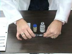 Reconstitution of a Powdered Medication - YouTube
