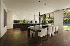 Open Space Kitchen Gorgeous House Oriented Towards Sustainable Design: Malvern House by Lubelso