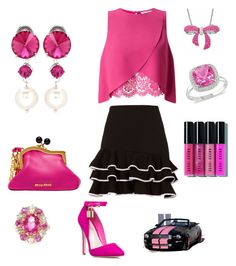"""""""I'm a Pink Doll"""" by heavenlycreations ❤ liked on Polyvore featuring Miu Miu, Jonathan Simkhai, Epoque, Miss Selfridge, Amanda Rose Collection, Ice and Bobbi Brown Cosmetics"""
