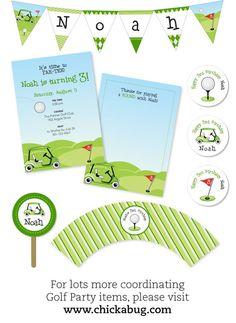 Golf party! Paper goods & printables at chickabug.com : )