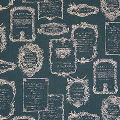 French Labels in Blue from Trefle by Kokka House Designers  for Kokka