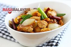 Spicy Chicken with Cashew Nuts (rasa malaysia)