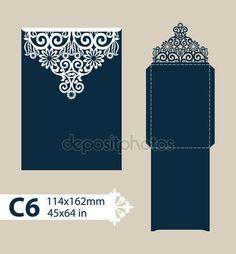 Descargar - Envolvente de felicitación de plantilla con el patrón calado tallado — Ilustración de stock #113563906