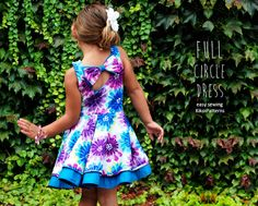 Girls circle DRESS pdf pattern - childrens sewing patterns - sizes 1 to 8 years Little Girl Fashion, Little Girl Dresses, Kids Fashion, Girls Dresses, Sewing Patterns For Kids, Sewing For Kids, Clothing Patterns, Toddler Outfits, Kids Outfits