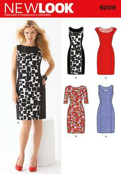 New Look Sewing Pattern 6209 - Misses' Dress Sizes: A (8-10-12-14-16-18) Preview