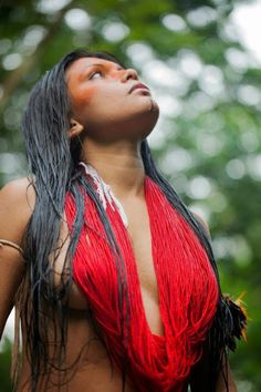 Brazil, Amazon, tribe Guajajara. Zahy Guajajara, indígena da Tribo Guajajara.