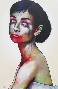 Audrey Hepburn as a zombie....not sure how I feel about this. I either love it or hate it and I am not sure just yet which one that is...