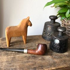 Excited to share this item from my shop: Vintage pipe with sterling silver makers mark tobacco smoking pipe Tobacco Pipe Smoking, Makers Mark, Chinoiserie, Scandinavian Design, Hand Carved, Art Nouveau, Stamp, Etsy Shop, Goals
