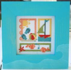 Summer Embroidery made by Pia Williams - Design: Pineneedles