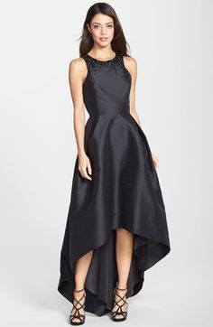 ML Monique Lhuillier Embellished Faille Cross Back Gown available at #Nordstrom