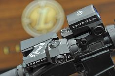 The Leupold Carbine Optic (LCO) mounted on a Picatinny rail with a D-EVO.