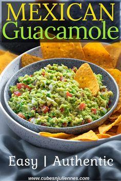 Authentic Guacamole Recipe, Guacamole Recipe Easy, Homemade Guacamole, Healthy Side Dishes, Vegan Dishes, Side Dish Recipes, Delicious Vegan Recipes, Vegetarian Recipes, Cooking Recipes