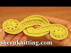 Crochet Freeform Motif Tutorial 16 Irish/Guipure Crochet Motif Free Pattern - YouTube
